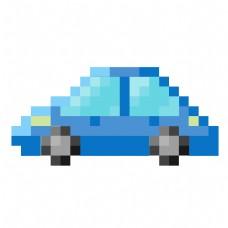 像素汽车装饰插画