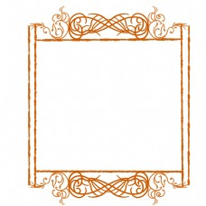 古典花纹边框插画