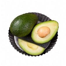 绿色圆弧牛油果食物元素