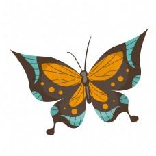 昆虫蝴蝶卡通插画