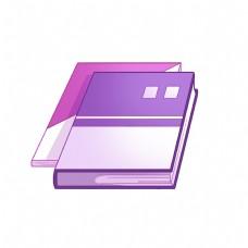 精美的紫色书籍插画