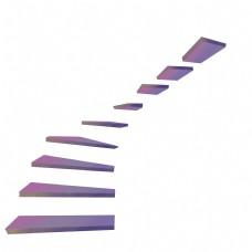 创意紫色方形楼梯