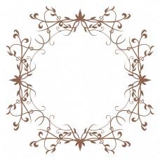 咖色圆形欧式边框