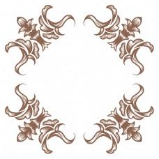 咖色花纹欧式边框