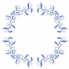 漂亮蓝色圆形边框