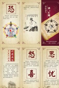 中医养生话七情 三折页