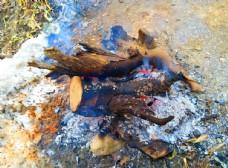 燃烧的木柴