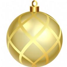 圆形金色卡通风格金球