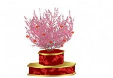 春节美陈 桃花树