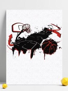 白色篮球运动招生背景