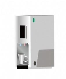 手绘家电咖啡直饮机插画