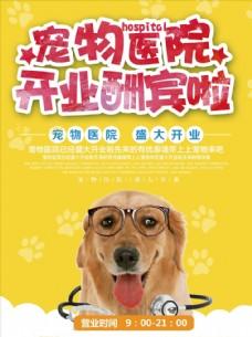 宠物医院开业促销海报