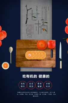 高级大气水果食品宣传海报