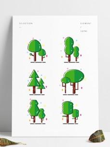 简约MBE风格树木装饰元素