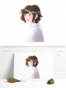 卡通彩绘人物元素设计