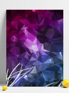 创意几何三角碎片光效背景