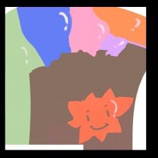 气球彩色爱心图案