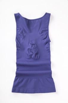 女性紧身塑身衣蓝紫色特写