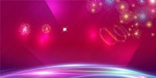 炫彩玫红色光效背景素材