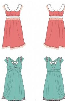 矢量连衣裙设计
