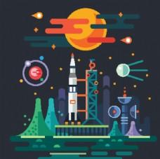 火箭 抽象图