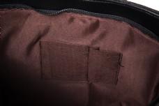 实物图摄影图皮面手提包女士黑色1