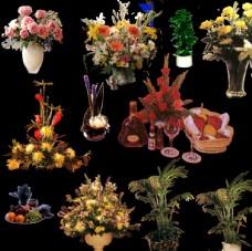 花坛 模型 效果图 室外景观