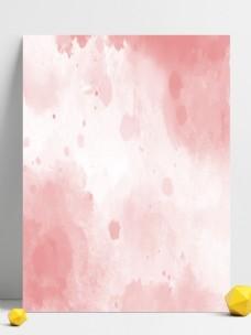 简约珊瑚红水彩效果背景素材