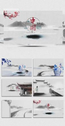 中国古典文化水墨梅花视频模板