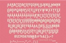 俏皮矢量英文字母