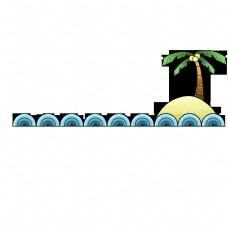 椰子树卡通分割线