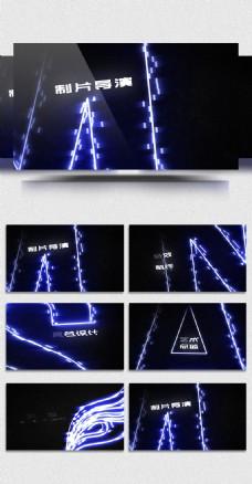 大气光线描边企业视频模板
