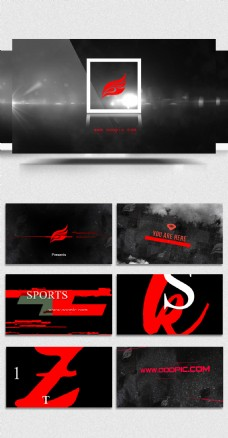 炫酷运动风商业企业AE模板
