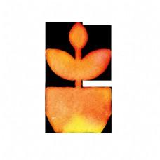 红色盆栽图标免抠图