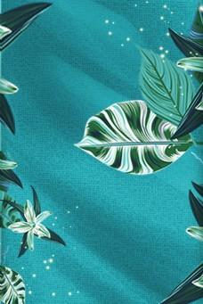 深绿色背景植物边框电商淘宝背景H5