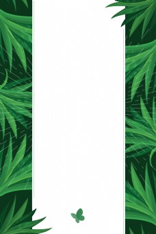 绿色焕新春天促销海报背景