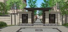 中式小区景观设计