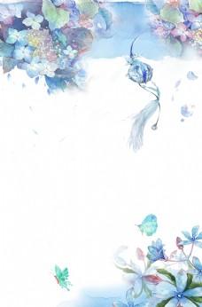 清新花卉背景