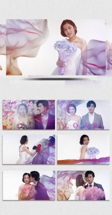 简约清新婚礼相册幻灯片Pr相册模板