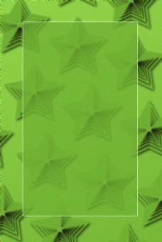 五角星叠加几何图形创意海报