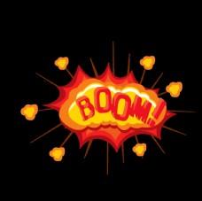 爆炸 地雷 卡通 黄色boom
