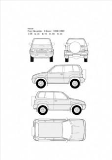 手绘汽车设计图