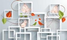 精美立体花朵植物背景墙浮雕