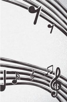 创意音乐符号海报