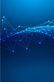 蓝色简约科技线条背景素材