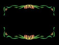 春季花卉边框插画