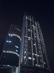 城市夜景系列之夜晚的高楼