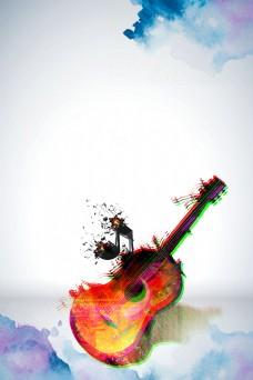 音乐梦想吉他培训背景