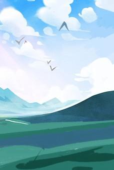 卡通春天野外风景下载