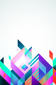 创意几何图形底纹背景模板